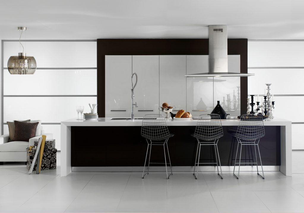 Isla de cocina de Silestone Blanco Zeus