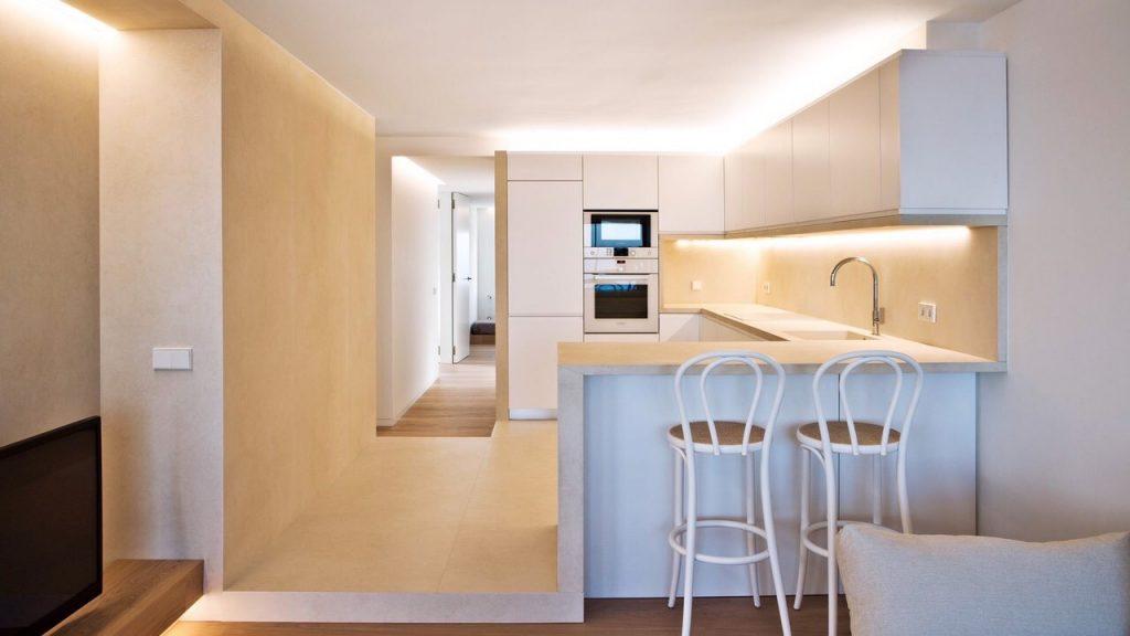 Cocina integrada con todo el ambiente del hogar